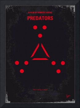 No289 My PREDATORS minimal movie poster