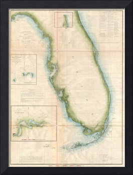 Vintage Florida Coast Map