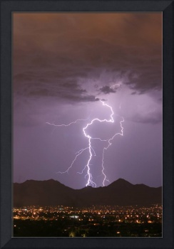 Double Lightning Strikes Fine Art Photography