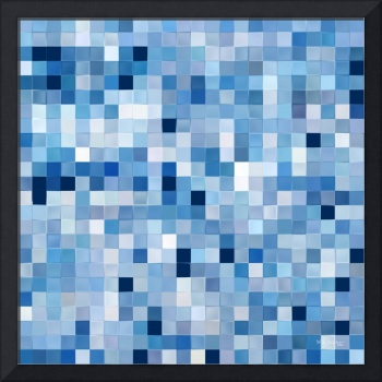 Tile Art #2, 2016. Blue and White Tiles