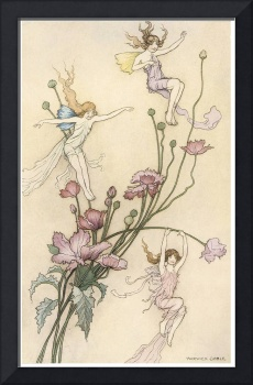 Three Spirits Mad with Joy by Warwick Goble