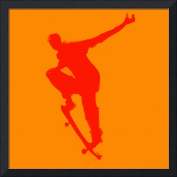 Skateboarder 1 . orange red (c)