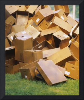 Heap of cardboard boxes