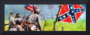 Confederates holding ground