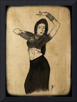 Kathak Dancer Card