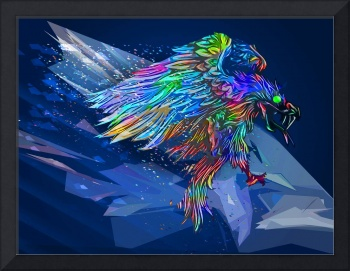 Mythical Killer Crayon Colored Eagle Revised