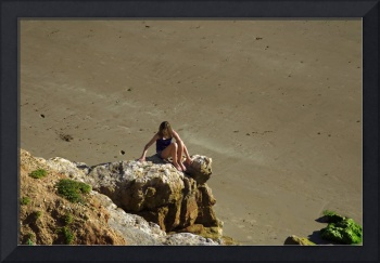 Girl On The Rocks, Compton Bay (32022-RDA)