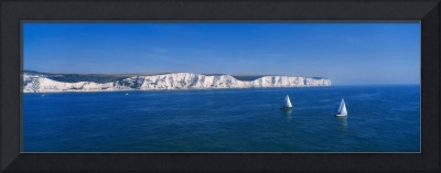 Panoramic View Of Sailboats On the Sea