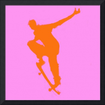 Skateboarder 1 . purple orange (c)