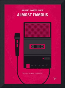No781 My Almost Famous minimal movie poster