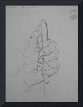 Hand Holding Pen Drawing 2008