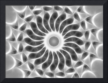 Gray Kaleidoscope Art 29