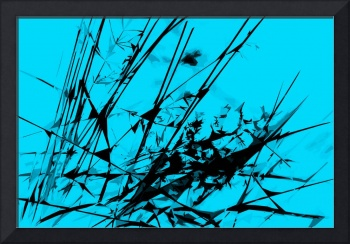 Strike Out Turquoise and Black Abstract
