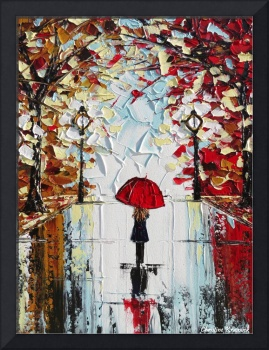 The Girl with the Red Umbrella