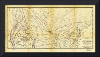 Isothermal Chart North of the 36th Parallel betwee