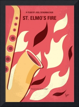 No657 My St Elmos Fire minimal movie poster