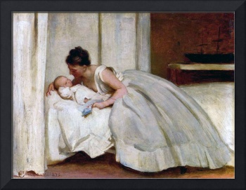 Philip Calderon - Letter From Daddy 1873
