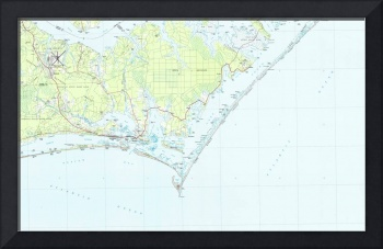 Cape Lookout National Seashore & Morehead City Map