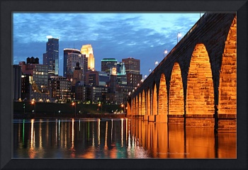 Minneapolis Skyline Photography Stone Arch Bridge