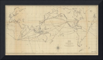 Vintage Map of The World (1848) 2