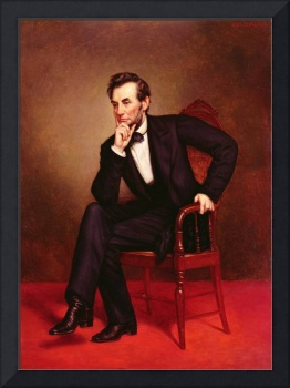 Portrait of Abraham Lincoln (oil on canvas) by Geo