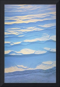 Detail Of Ripple Pattern In The Snow At Sunrise C