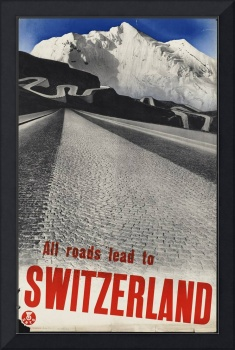Switzerland Vintage Retro Travel Poster