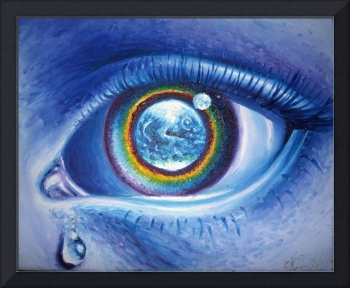 Watch the Earth oil on canvas painting