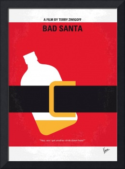 No702 My Bad Santa minimal movie poster