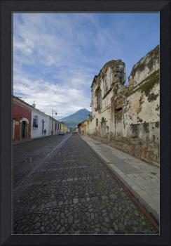 Ruin and Volcano, Antigua Guatemala