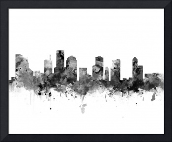 Houston Skyline, Black and White