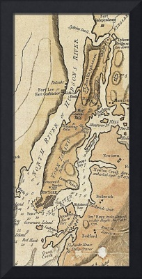 Vintage Manhattan Map (1781)