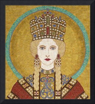 Empress Irene of Byzantiumm- fabric mosaic