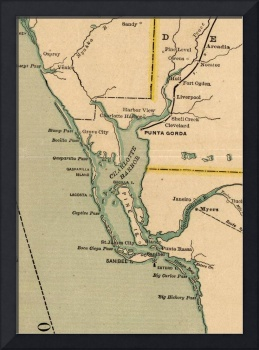 Vintage Map of Port Charlotte Florida (1896)