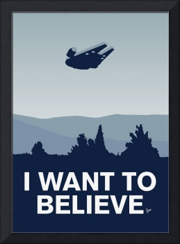 My I want to believe poster-millennium falcon