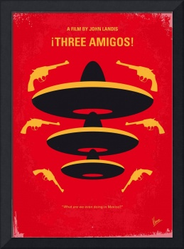 No285 My Three Amigos minimal movie poster