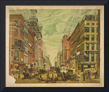 View of Broadway, New York City (c 1890)