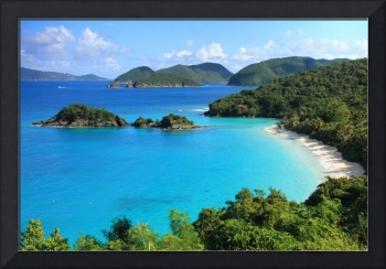 Scenic Overlook of Trunk Bay, St. John, USVI