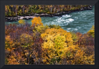 Artistic Autumn Rapids