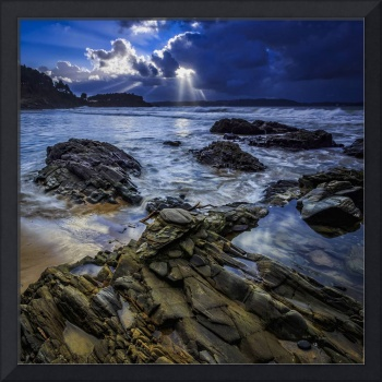 Squalls on Ber Beach Galicia Spain