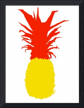 Pineapple lemon yellow red white (c)
