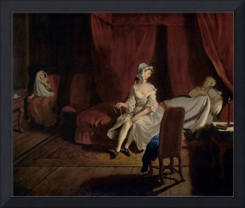 Joseph Highmore, Pamela in the Bedroom with Mrs Je
