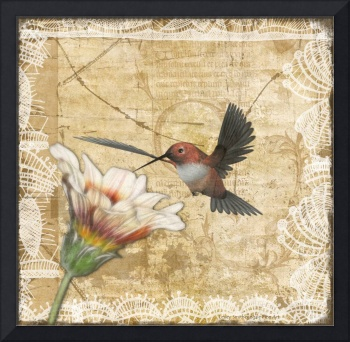 Hummingbird & Wildflower
