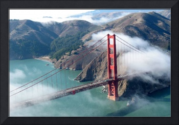 Classic Aerial Golden Gate Bridge