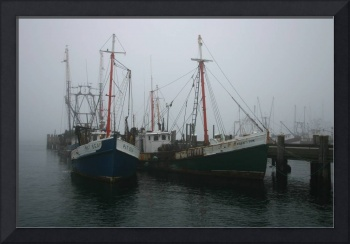 Foggy Fishing Boats