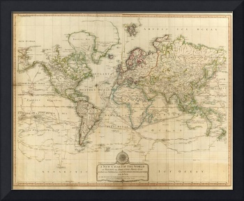 Vintage Map of The World (1800)