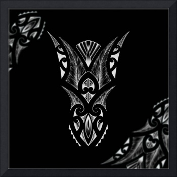 Tribal tattoo design composition