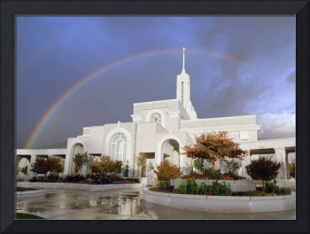 Mt. Timpanogos LDS Temple Rainbow