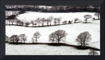 snow on fields nr cader idris n,wales