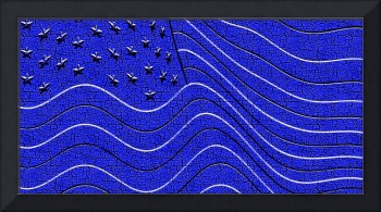 Royal Blue Sculpture American Flag
